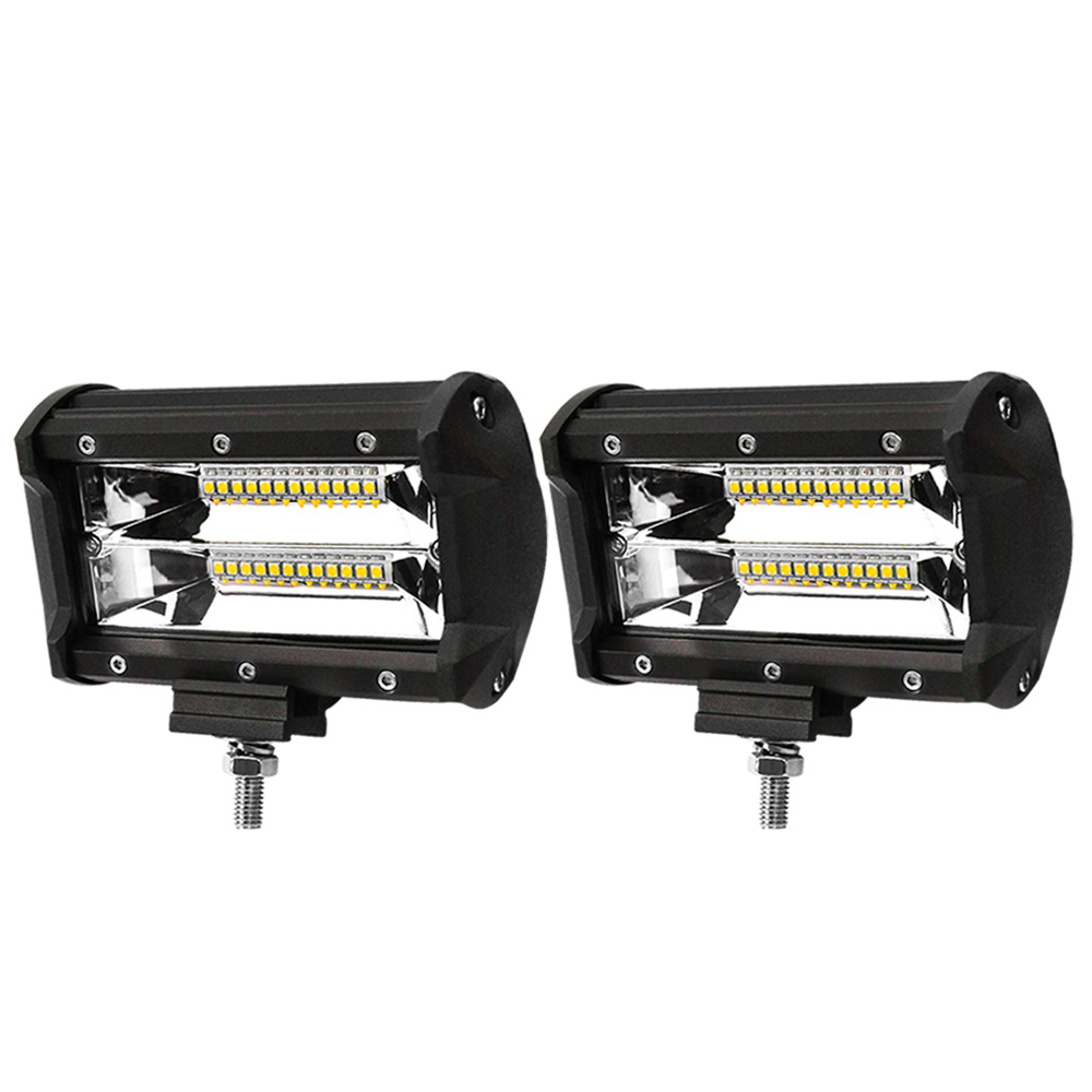 2x 5inch LED Work Light Bar Flood Beam Reverse Driving Lights Offroad 4WD 1
