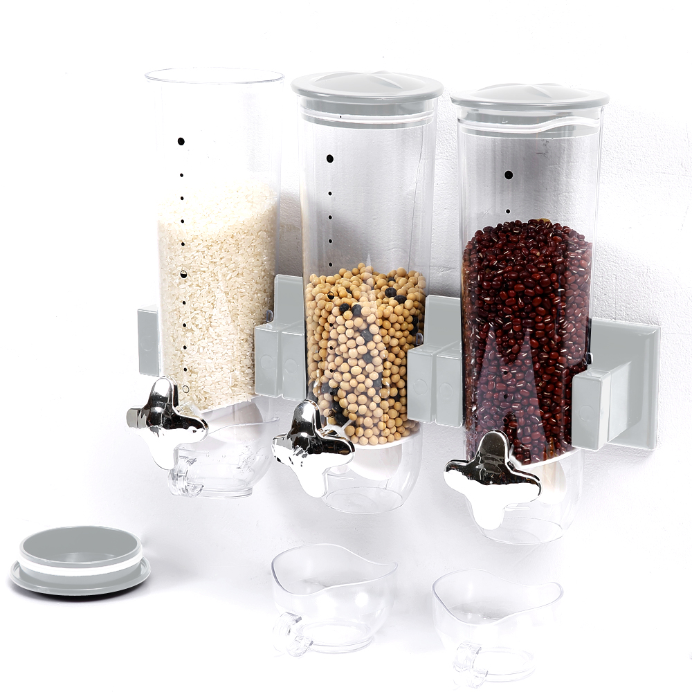 Wall Mounted Triple Cereal Dispenser 1
