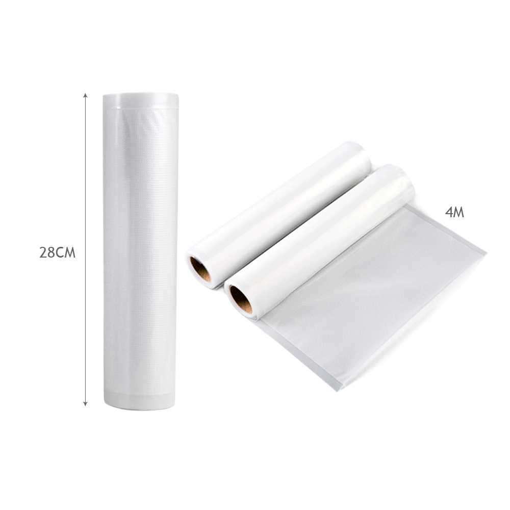 4x Vacuum Food Sealer Roll Bags 28cm 22cm 5