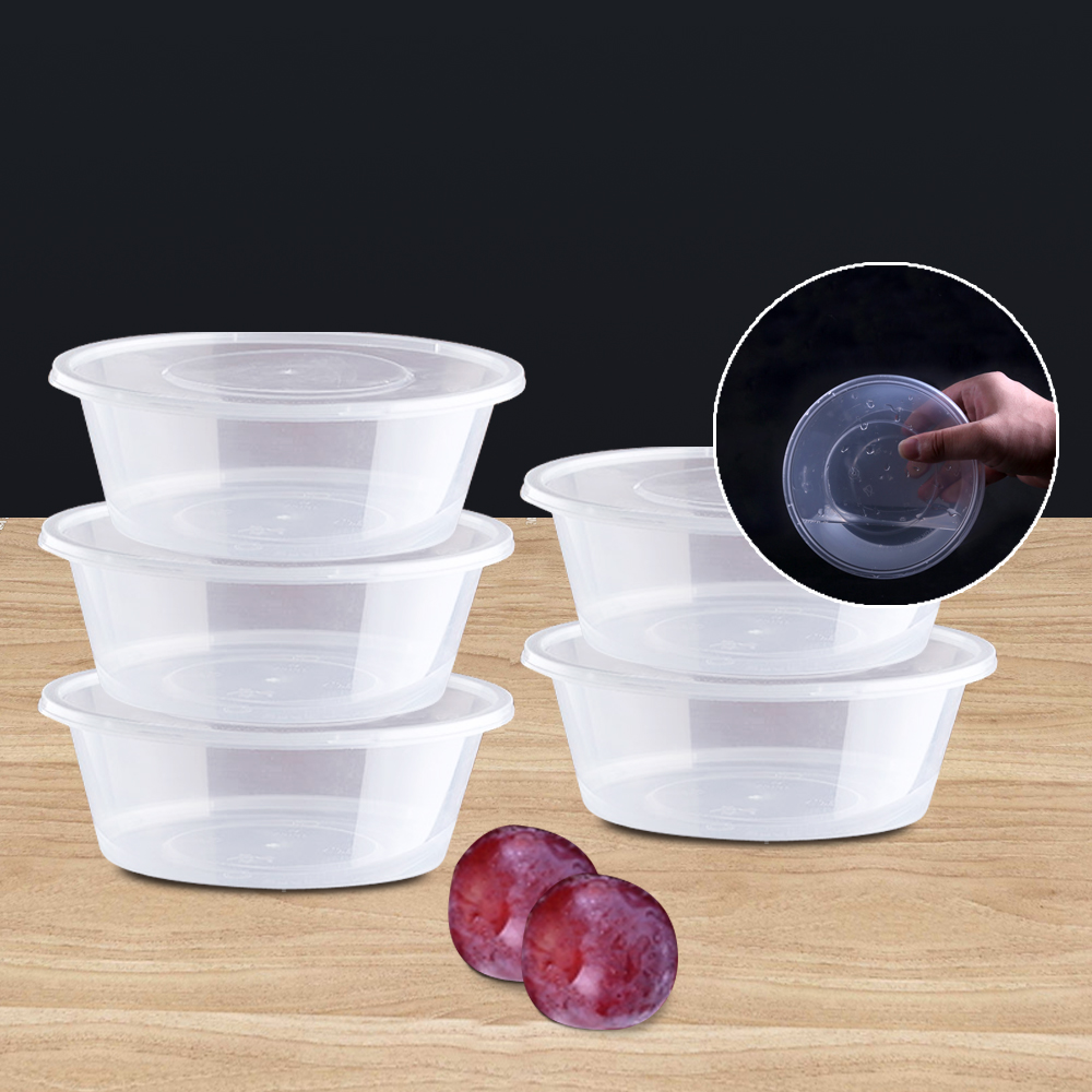 50pcs 300ml Take Away Containers With Lids 1