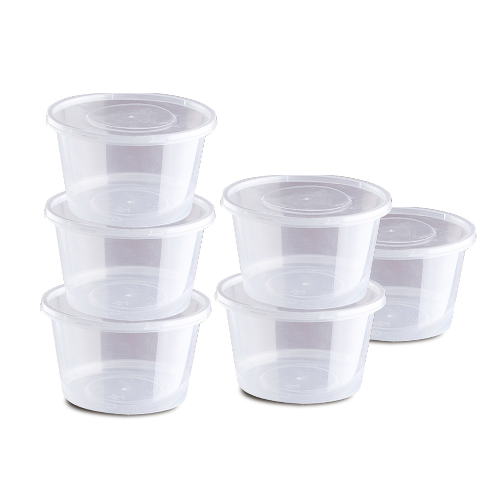 50pcs Of Take Away Container & 50 Pcs Of Lids – 800ml 1