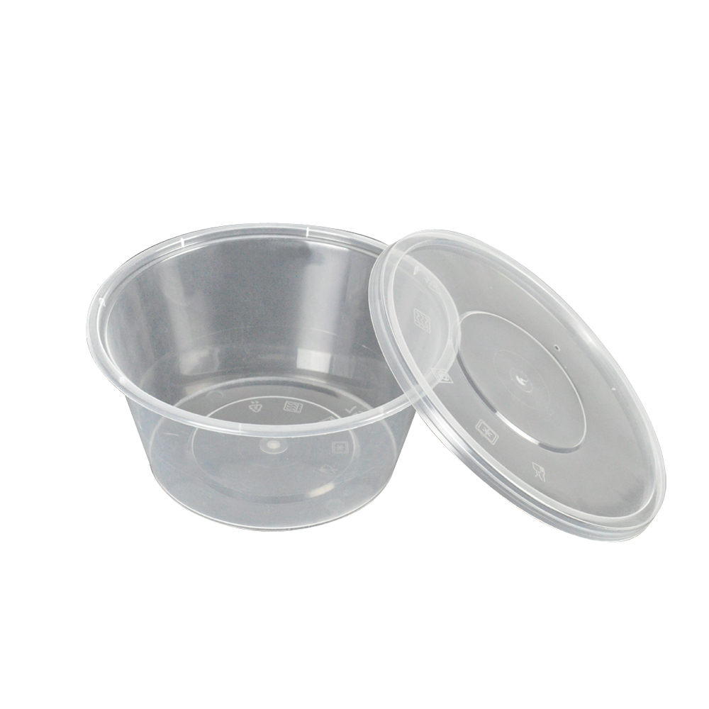 50 X 750 Ml Take Away Containers Round With Lids 2