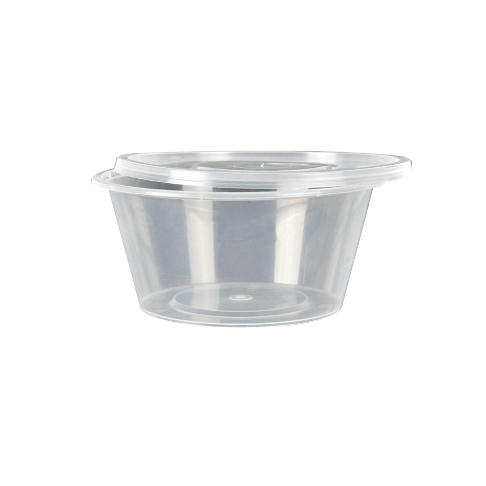 50 X 750 Ml Take Away Containers Round With Lids 3