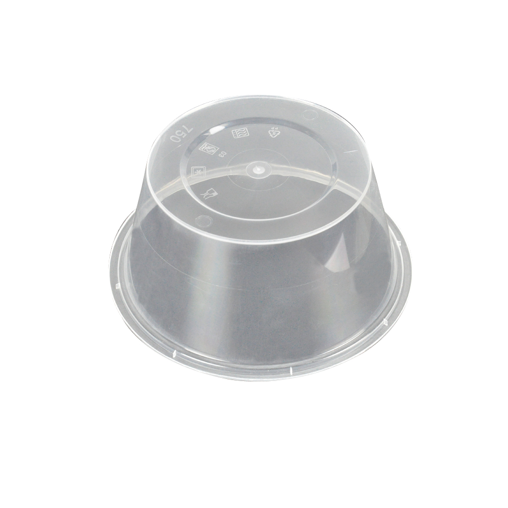 50 X 750 Ml Take Away Containers Round With Lids 4