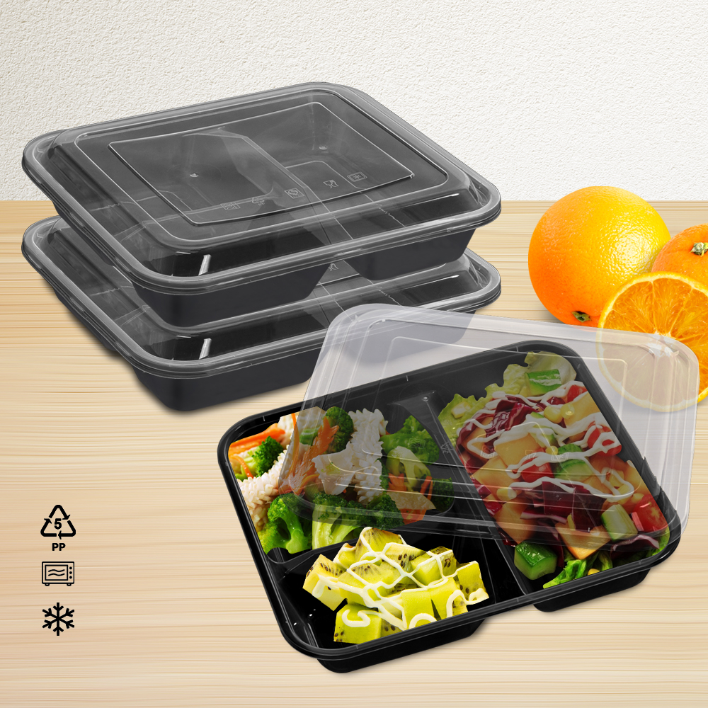 50 Microwave Safe Plastic Container Lunch Box 1000ml 2