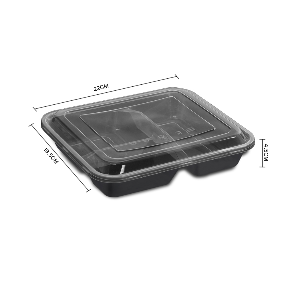50 Microwave Safe Plastic Container Lunch Box 1000ml 3