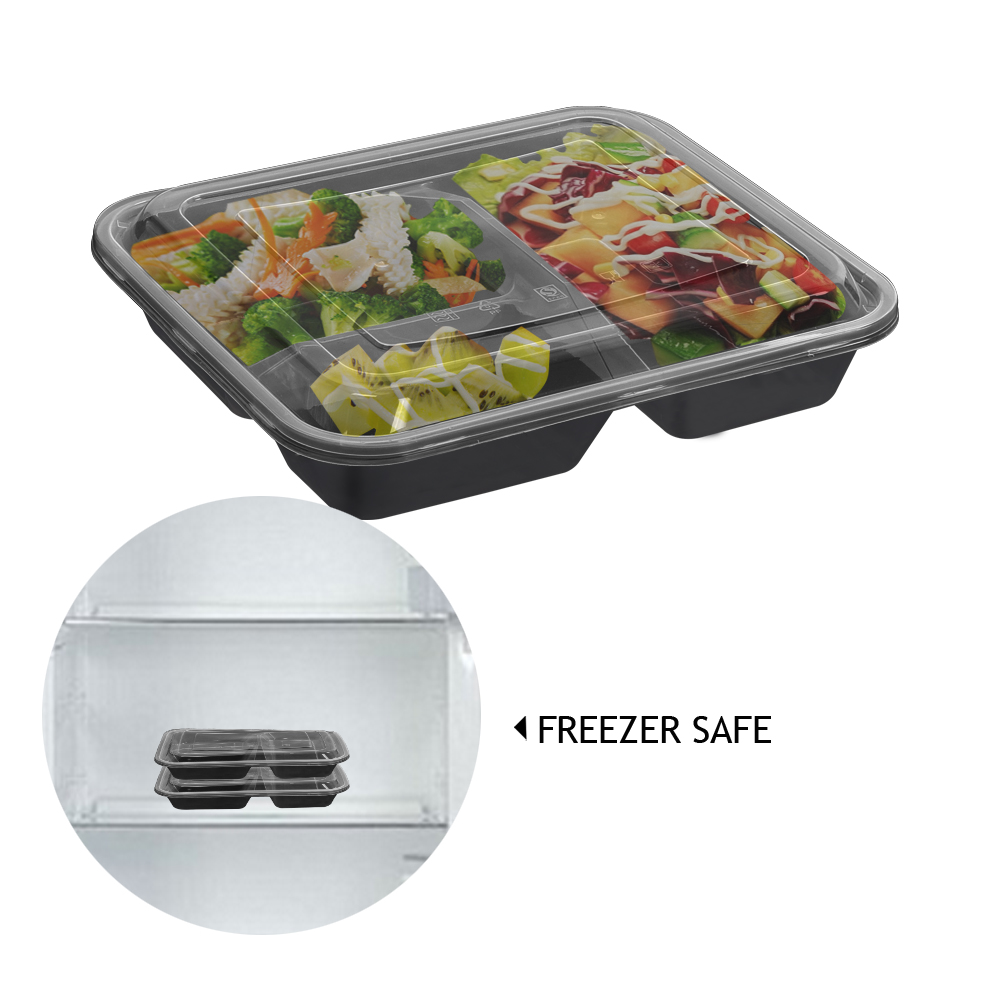50 Microwave Safe Plastic Container Lunch Box 1000ml 6