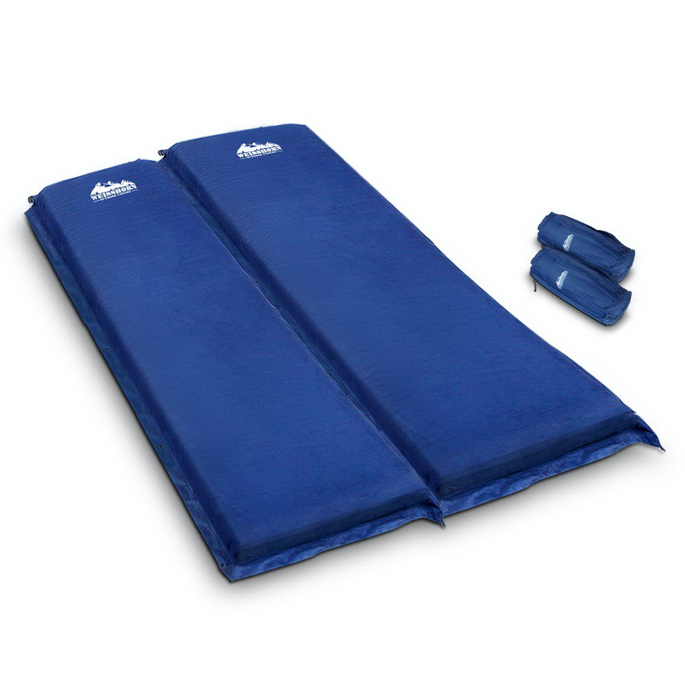 Weisshorn Self Inflating Mattress Camping Sleeping Mat Air Bed Pad Double Navy 10CM Thick 1