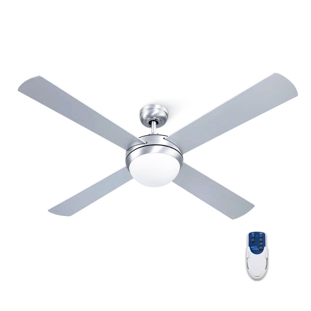 Devanti 52″ Ceiling Fan with Light Silver 1
