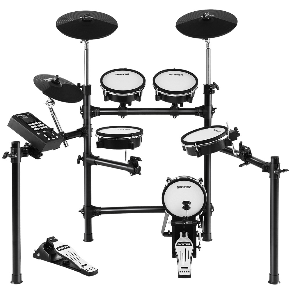 8 Piece Electric Electronic Drum Kit Mesh Drums Set Pad Tom Midi For Kids Adults 1