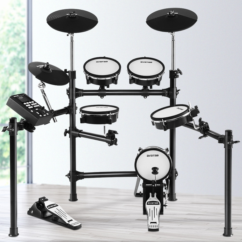 8 Piece Electric Electronic Drum Kit Mesh Drums Set Pad Tom Midi For Kids Adults 7