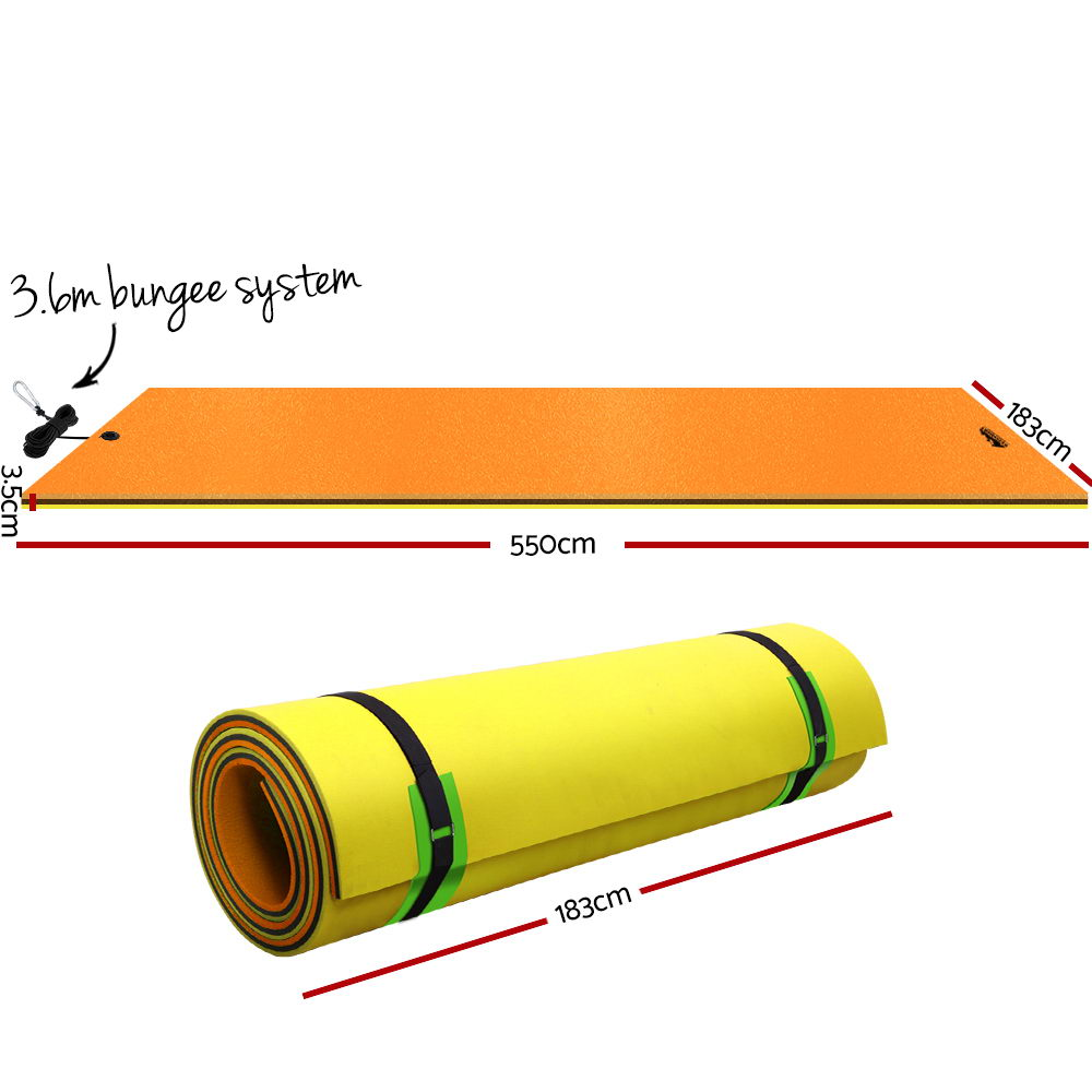 Weisshorn Floating Mat Water Slide Park Stand Up Paddle Pool Sea 550cm 2