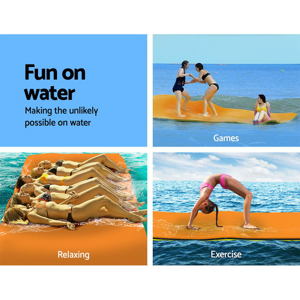 Weisshorn Floating Mat Water Slide Park Stand Up Paddle Pool Sea 550cm 3