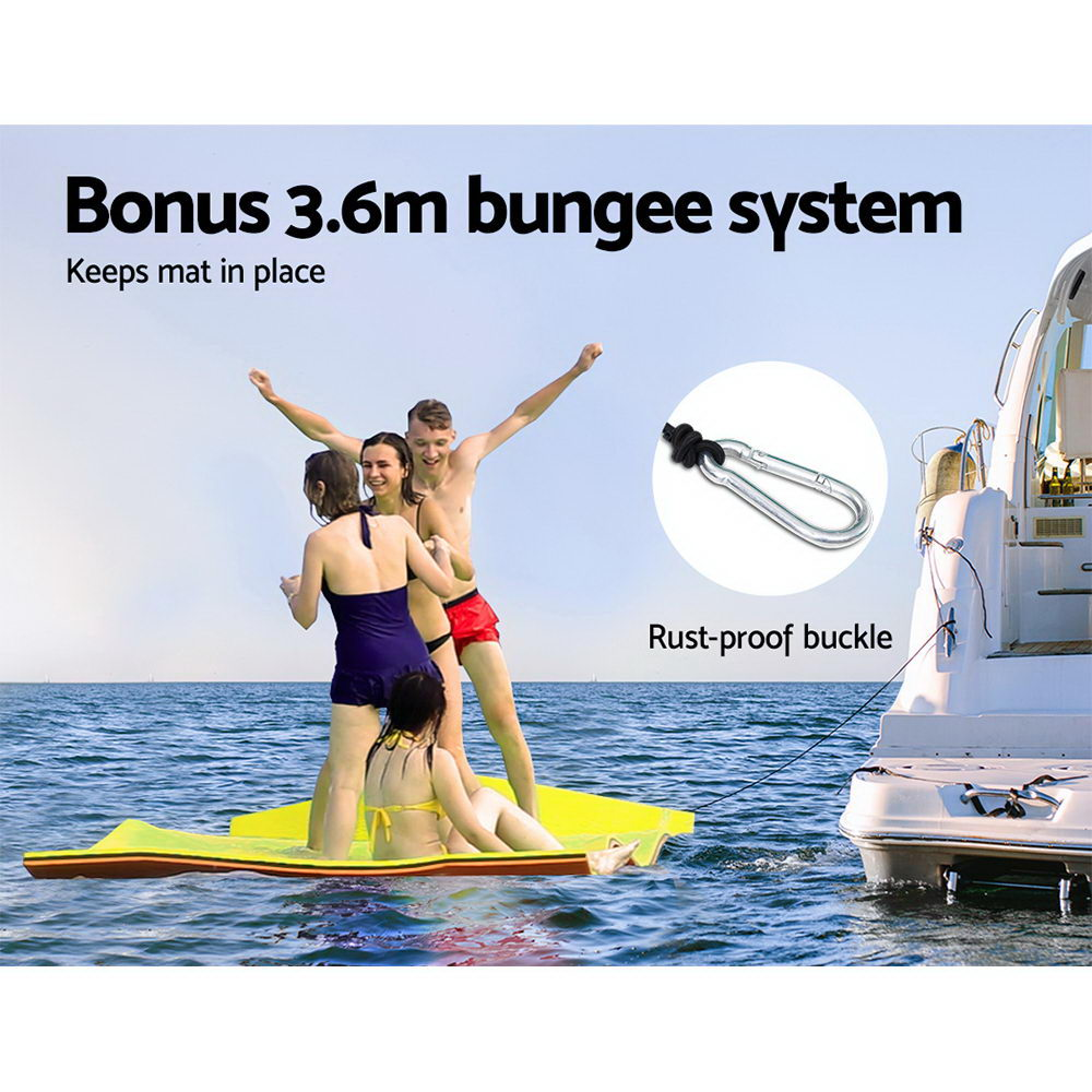 Weisshorn Floating Mat Water Slide Park Stand Up Paddle Pool Sea 550cm 6