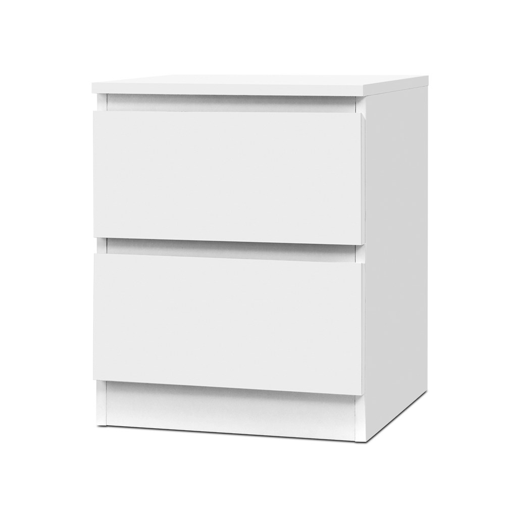 Artiss Bedside Table Cabinet Lamp Side Tables Drawers Nightstand Unit White 1