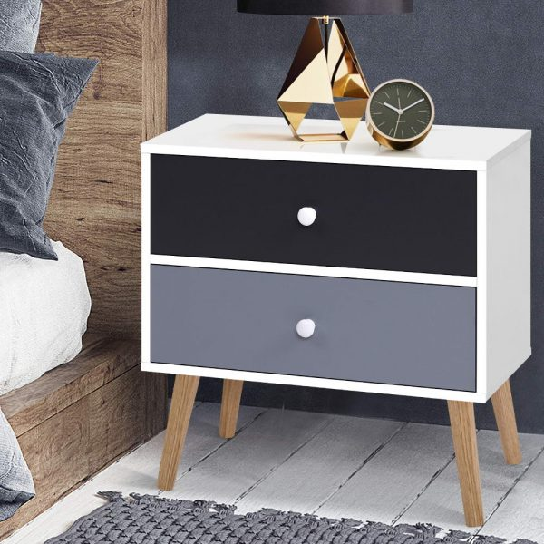Artiss Bedside Tables Drawers Side Table Nightstand Lamp Side Storage Cabinet 7