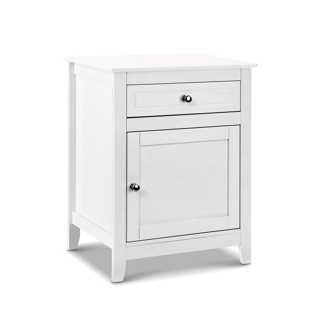 Artiss Bedside Tables Big Storage Drawers Cabinet Nightstand Lamp Chest White 1