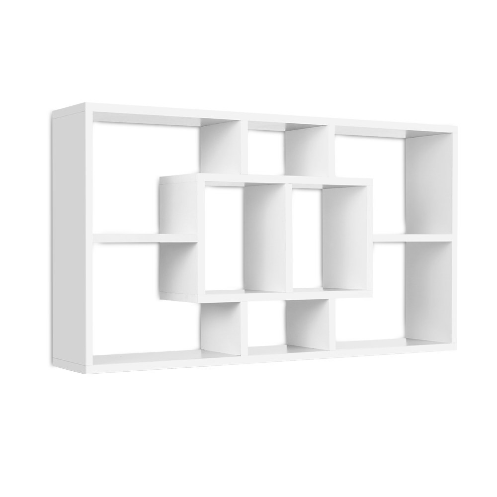 Artiss Floating Wall Shelf DIY Mount Storage Bookshelf Display Rack White 1