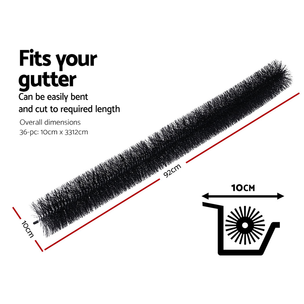 36 Pcs Gutter Brush Guard 92cm X 10cm Length Leaf Twigs Filter Home Garden 2