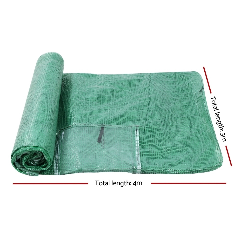 Greenfingers 4X3X2M Walk In Replacement Greenhouse PE Cover Shed – Cover Only 2