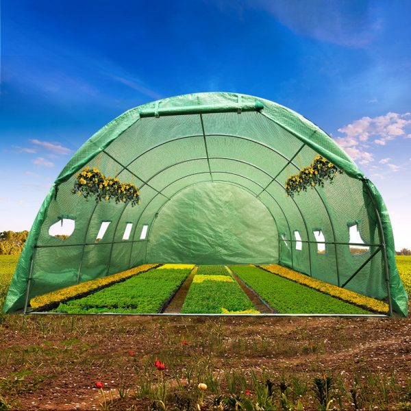 Greenfingers 4X3X2M Walk In Replacement Greenhouse PE Cover Shed – Cover Only 7