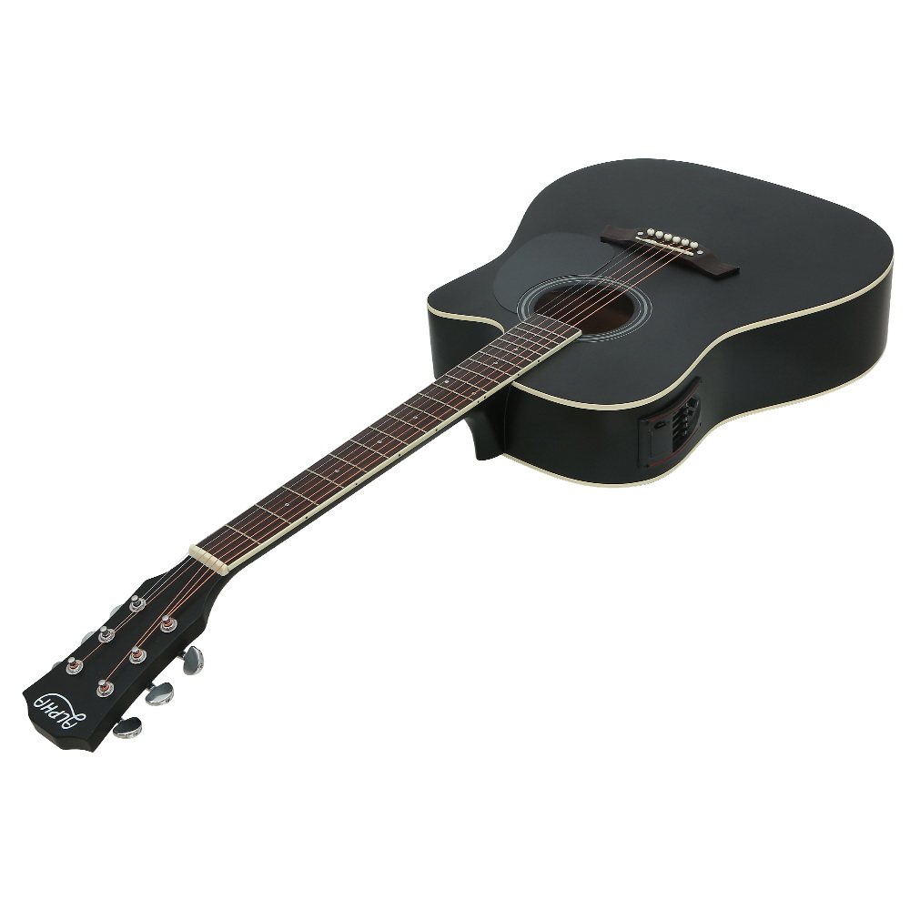 Alpha 41″ Inch Electric Acoustic Guitar Wooden Classical Full Size EQ Bass Black 3