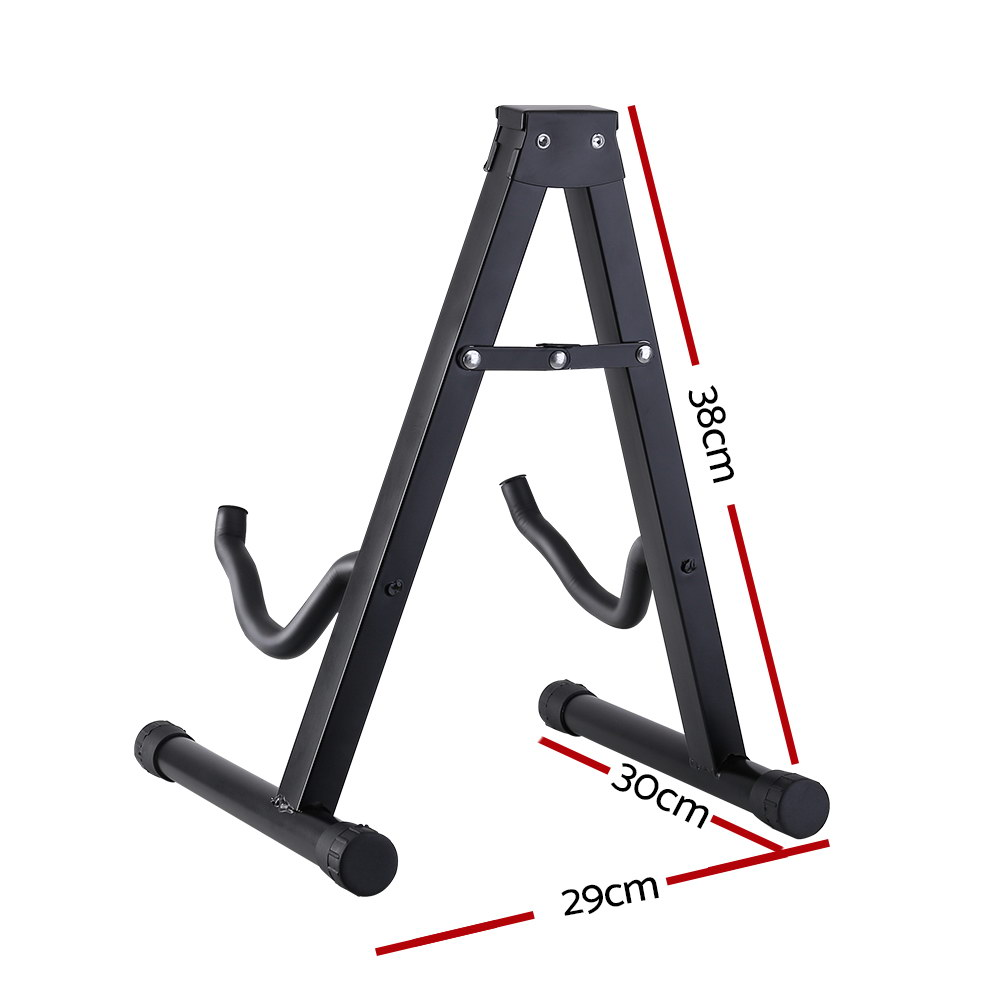 ALPHA Folding Acoustic Guitar Stand Bass Floor Rack Holder Accessories Pack 2