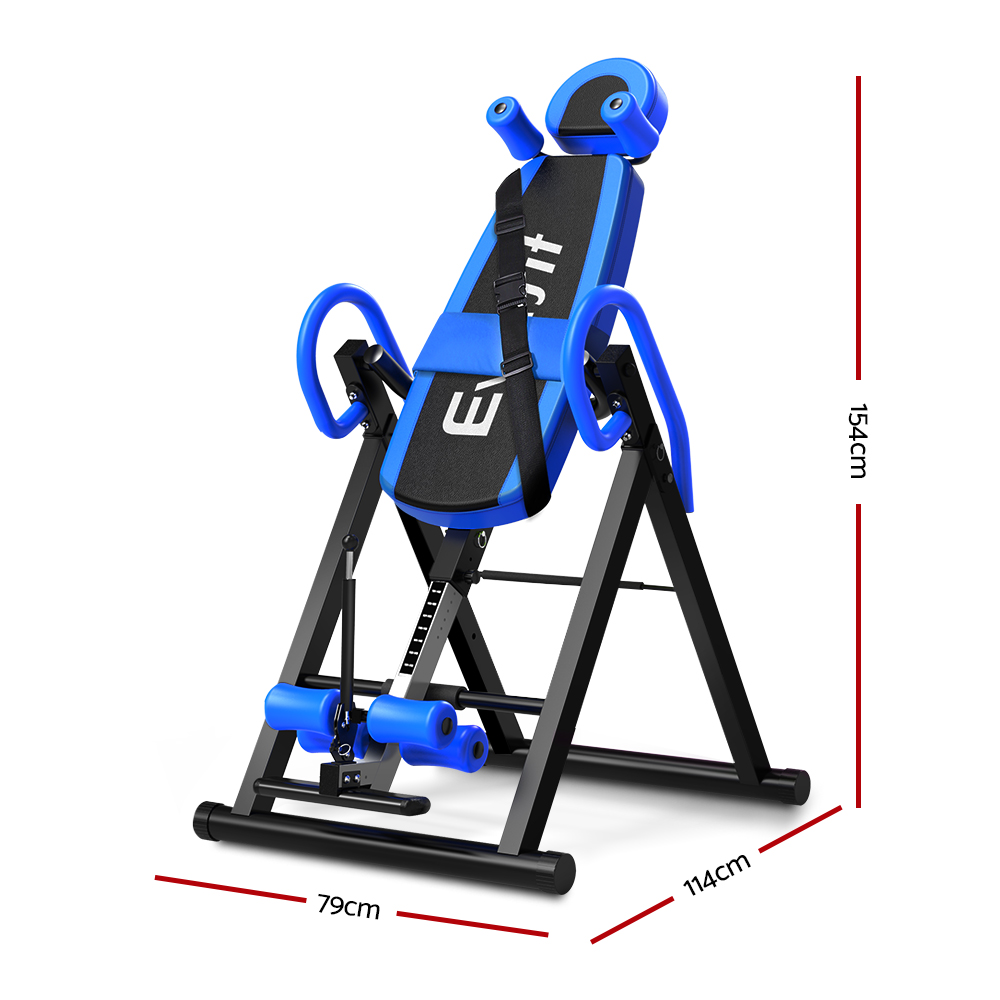 Everfit Gravity Inversion Table Foldable Stretcher Inverter Home Gym Fitness 2