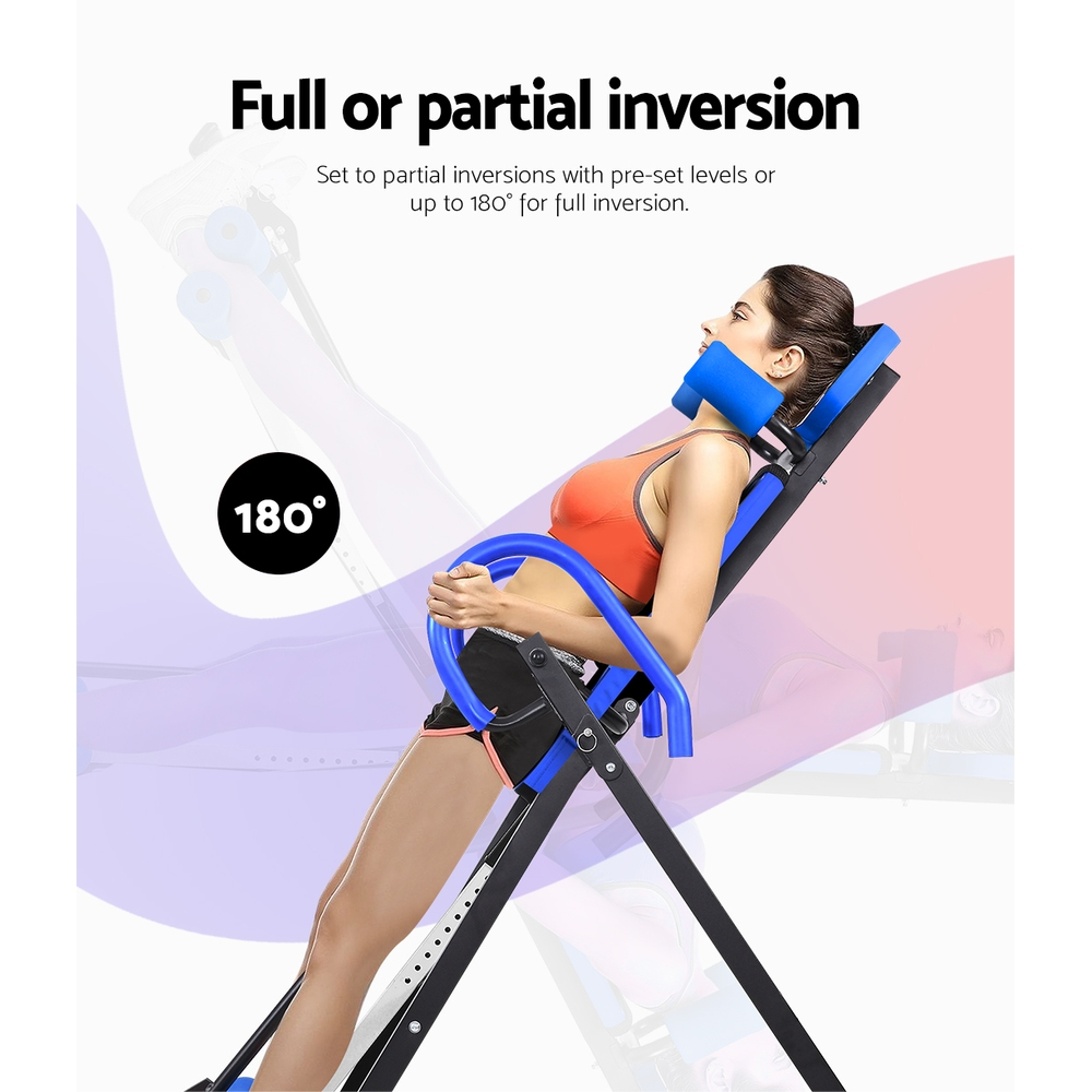 Everfit Gravity Inversion Table Foldable Stretcher Inverter Home Gym Fitness 5