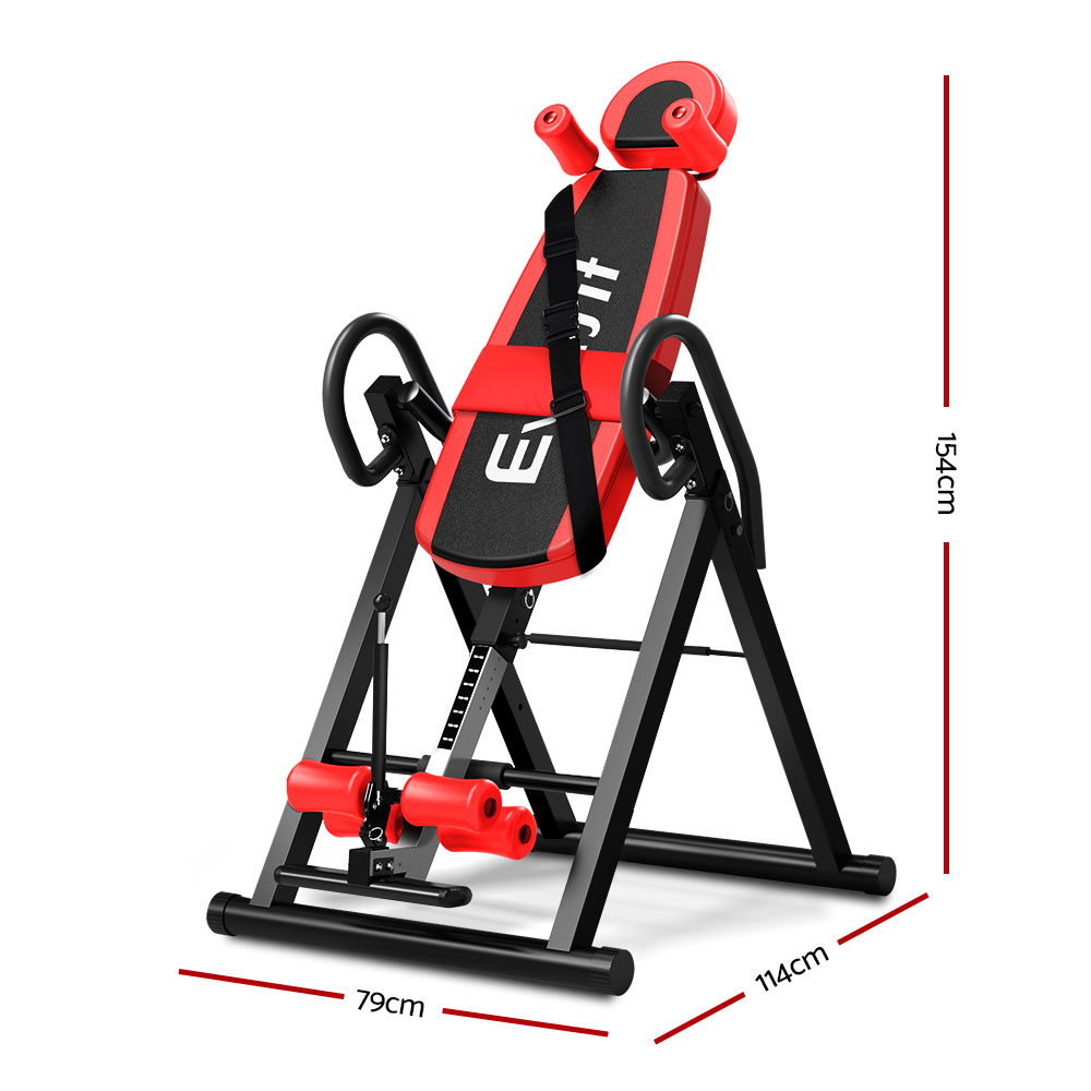 Everfit Inversion Table Gravity Stretcher Inverter Foldable Home Fitness Gym 2