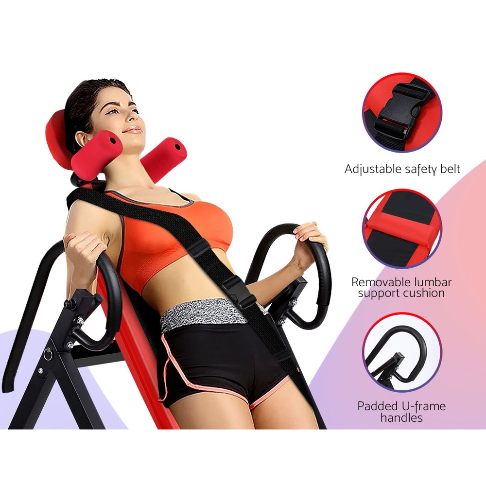 Everfit Inversion Table Gravity Stretcher Inverter Foldable Home Fitness Gym 3