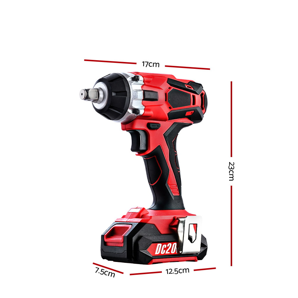 GIANTZ Cordless Impact Wrench 20V Lithium-Ion Battery Rattle Gun Sockets 2