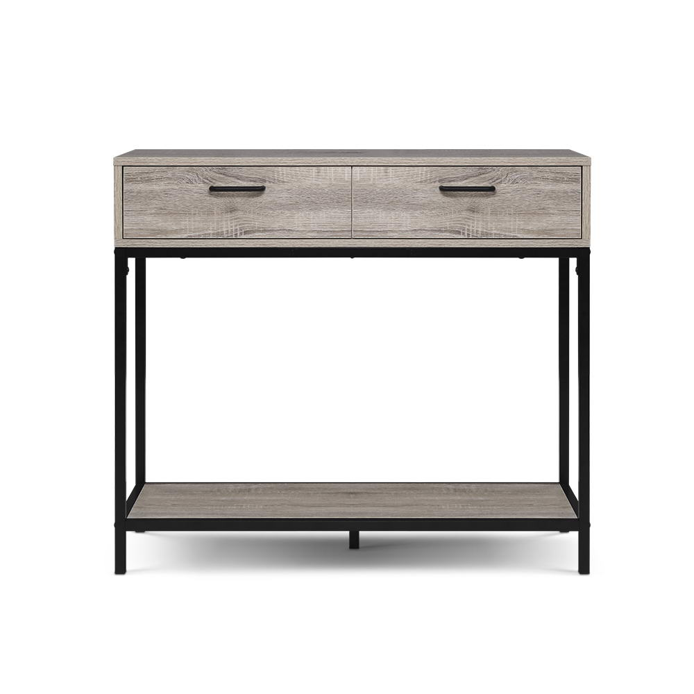 Artiss Hallway Console Table Hall Side Entry Display Desk Drawer Storage Oak 1