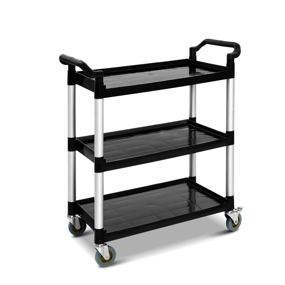 Emajin Service Cart Restaurant Trolley Kitchen Serving Catering Large Shelf 1
