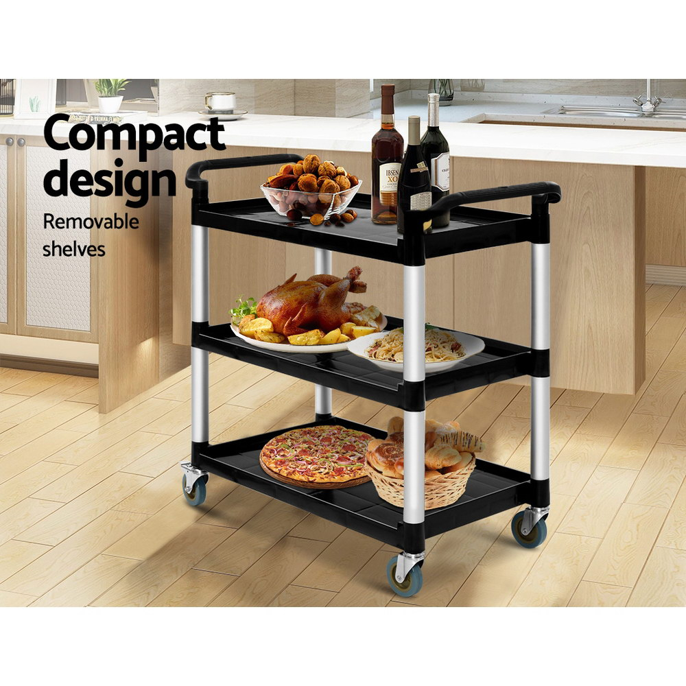 Emajin Service Cart Restaurant Trolley Kitchen Serving Catering Large Shelf 3