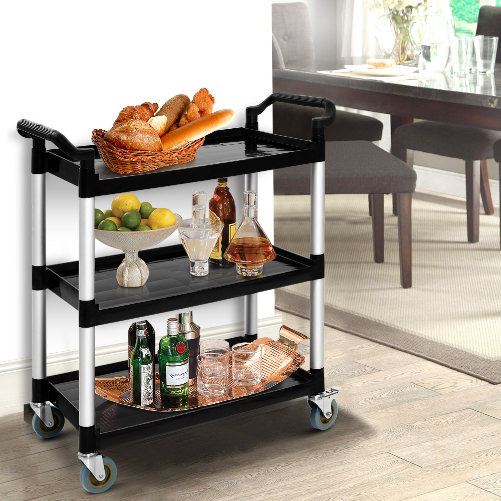 Emajin Service Cart Restaurant Trolley Kitchen Serving Catering Large Shelf 7
