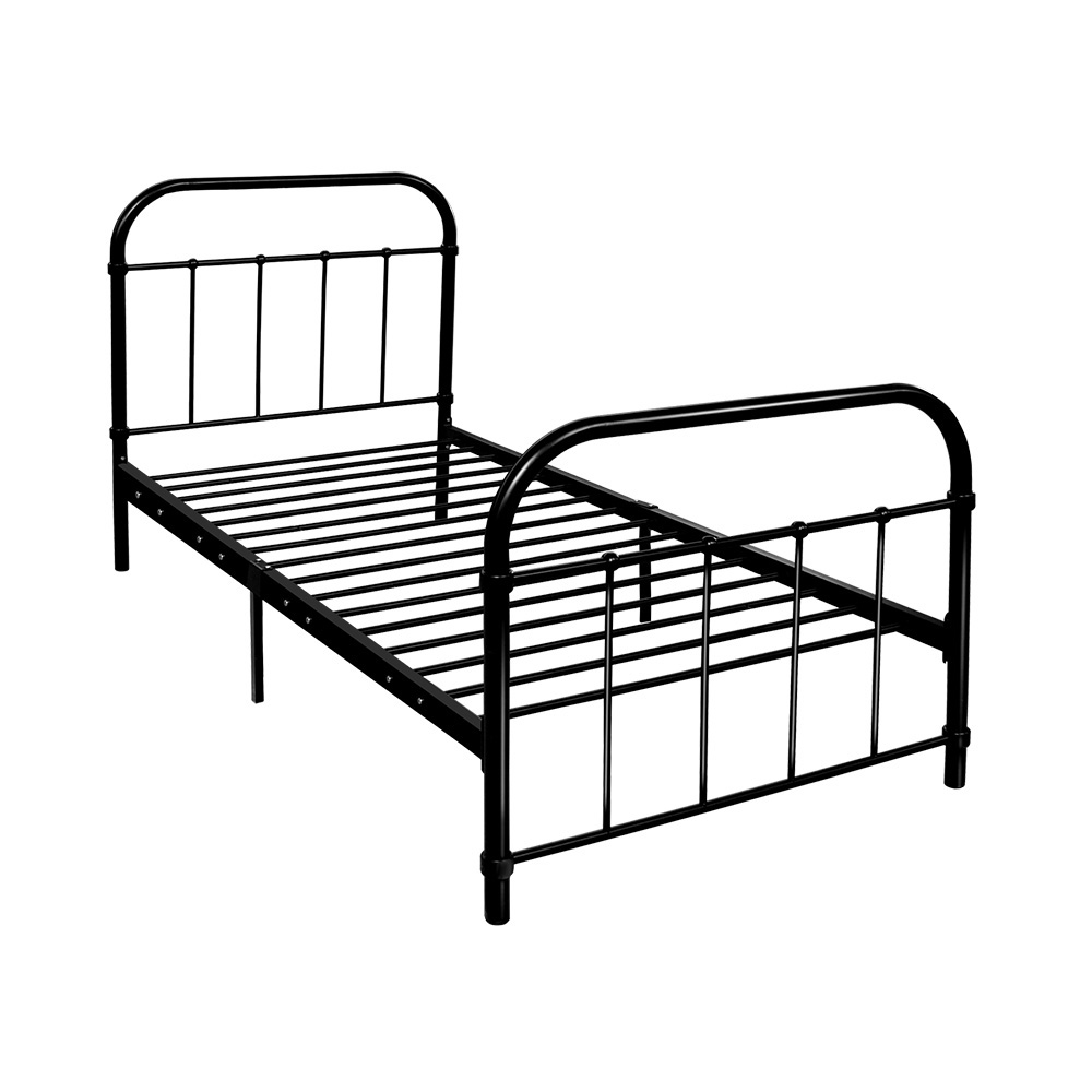 Artiss Metal Bed Frame SINGLE Metal Size Mattress Base Platform Foundation Black 1