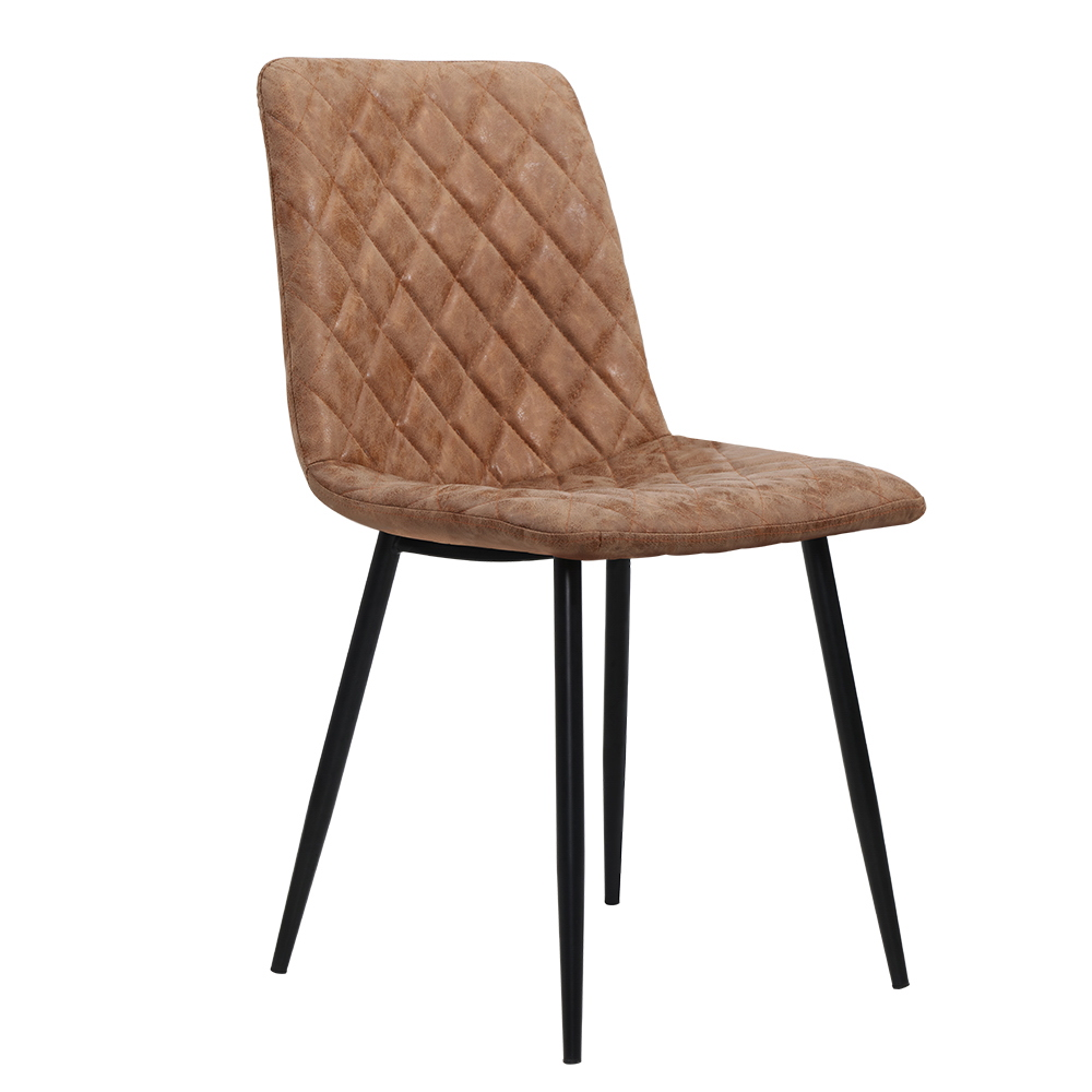 Artiss Dining Chairs Replica Kitchen Chair PU Leather Padded Retro Iron Legs x2 1