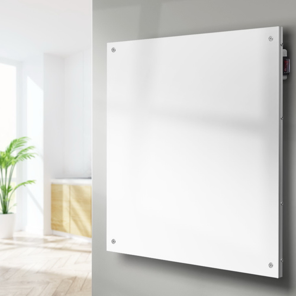 Devanti 450W Metal Wall Mount Panel Heater Infrared Slimline Portable Caravan White 7