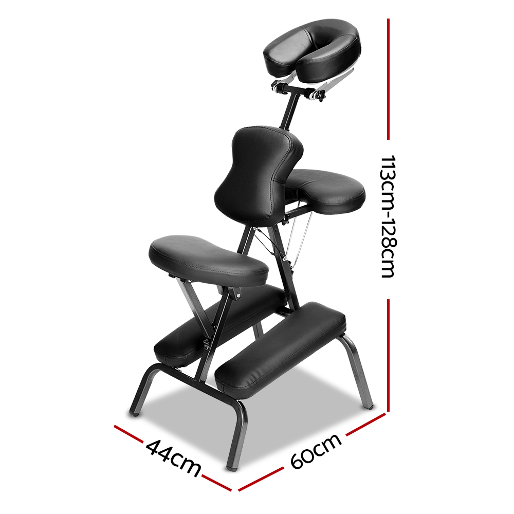 Zenses Massage Chair Massage Table Aluminium Portable Beauty Therapy Bed Tattoo Waxing 2