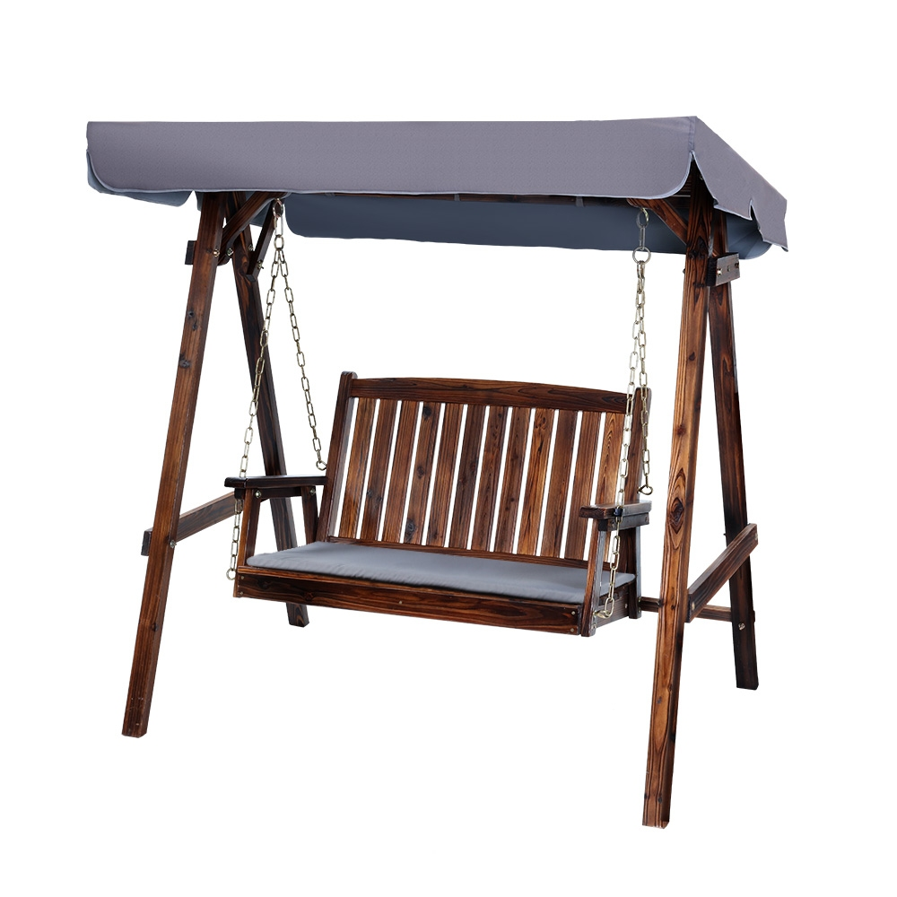 Gardeon Swing Chair Wooden Garden Bench Canopy 2 Seater Outdoor Furniture 1