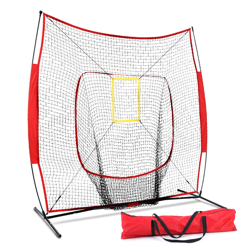 Everfit Portable Baseball Training Net Stand Softball Practice Sports Tennis 1