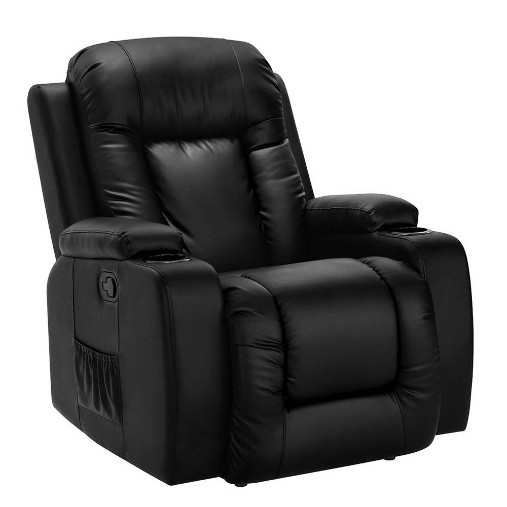 Artiss Electric Massage Chair Recliner Luxury Lounge Sofa Armchair Heat Leather 1