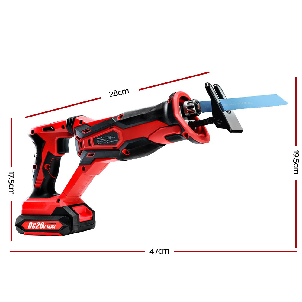 GIANTZ Cordless Reciprocating Saw Electric Corded 20V Lithium Sabre Saw Tool 1