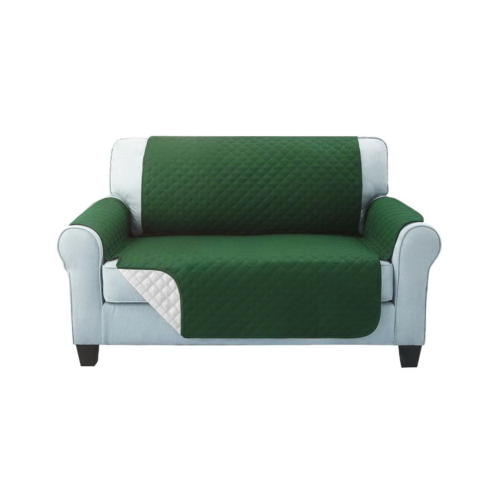 Artiss Sofa Cover Quilted Couch Covers Protector Slipcovers 2 Seater Green 1
