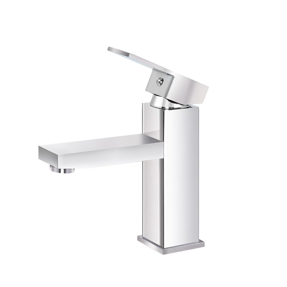 Cefito Basin Mixer Tap Faucet Bathroom Vanity Counter Top WELS Standard Brass Silver 3