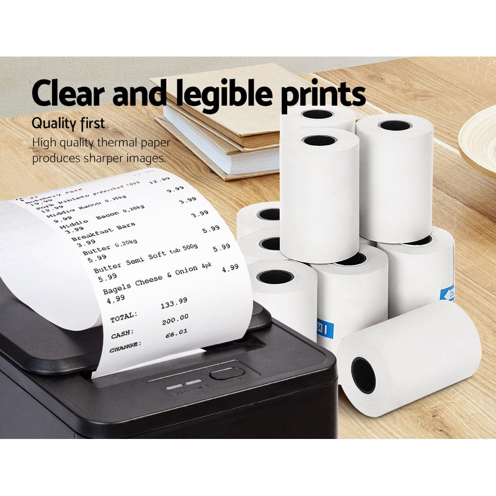 Emajin 60 Bulk Thermal Paper Rolls 57x38mm Cash Register Receipt Roll Eftpos 3