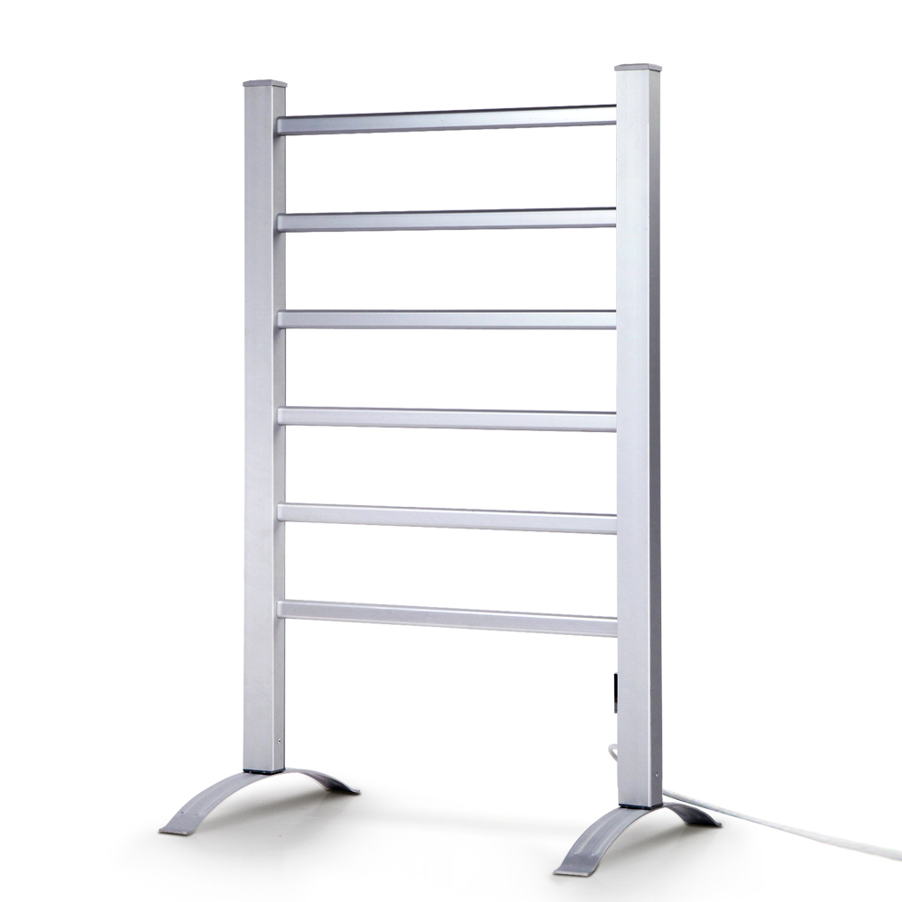Devanti Electric Heated Towel Rail Rails Warmer Rack Aluminium Bar Bathroom 1