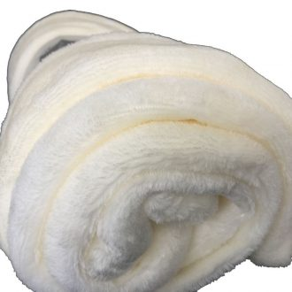 Ultra-Soft Throw Rug (Ivory Color) 1