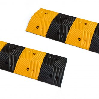 Pair of 1m Long 60T Load Rubber Speed Bump Hump Modular Speed Humps Road Hump 1